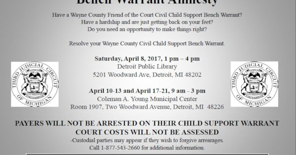 What Is A Bench Warrant For Child Support
