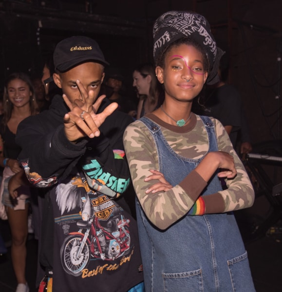 Jaden Smith and Willow Smith (Photo by Christopher Polk/Getty Images)