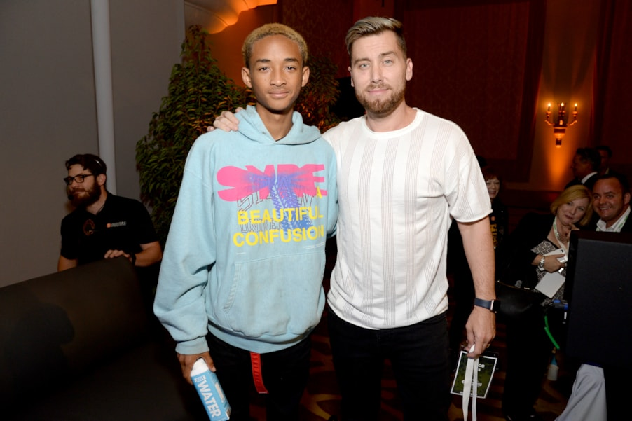 Jaden Smith and Lance Bass (Photo by Michael Kovac/Getty Images for Environmental Media Association)