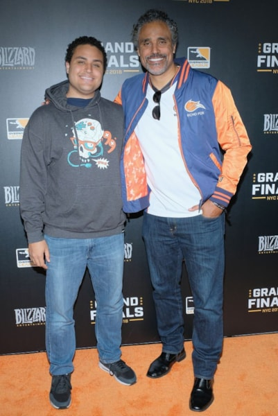 NEW YORK, NY - JULY 28:  Kyle Fox and Rick Fox attend Overwatch League Grand Finals - Day 2  at Barclays Center on July 28, 2018 in New York City.  (Photo by Matthew Eisman/Getty Images for Blizzard Entertainment )