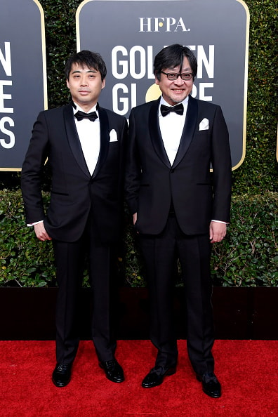 BEVERLY HILLS, CA - JANUARY 06:  Yuichiro Saito (L) and Mamoru Hosoda attend the 76th Annual Golden Globe Awards at The Beverly Hilton Hotel on January 6, 2019 in Beverly Hills, California.  (Photo by Frazer Harrison/Getty Images)