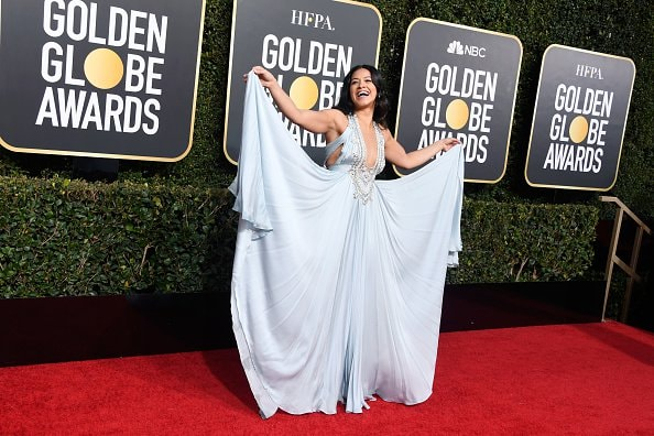 BEVERLY HILLS, CA - JANUARY 06:  Gina Rodriguez attends the 76th Annual Golden Globe Awards at The Beverly Hilton Hotel on January 6, 2019 in Beverly Hills, California.  (Photo by Frazer Harrison/Getty Images)