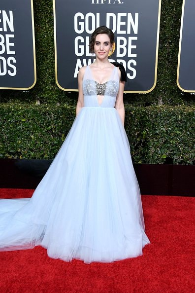 BEVERLY HILLS, CA - JANUARY 06: Alison Brie attends the 76th Annual Golden Globe Awards at The Beverly Hilton Hotel on January 6, 2019 in Beverly Hills, California.  (Photo by Jon Kopaloff/Getty Images)