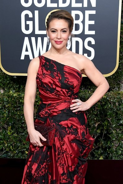 BEVERLY HILLS, CA - JANUARY 06:  Alyssa Milano attends the 76th Annual Golden Globe Awards at The Beverly Hilton Hotel on January 6, 2019 in Beverly Hills, California.  (Photo by Jon Kopaloff/Getty Images)