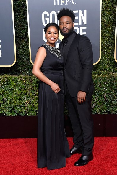 BEVERLY HILLS, CA - JANUARY 06:  Zinzi Evans (L) and Ryan Coogler attend the 76th Annual Golden Globe Awards at The Beverly Hilton Hotel on January 6, 2019 in Beverly Hills, California.  (Photo by Frazer Harrison/Getty Images)