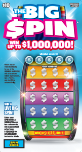 Chance to win: A Stack of Michigan Lottery $10 The Big Spin Instant