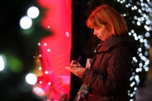 Christmas Arrives As Oxford And Regent Street Turn On Their Lights