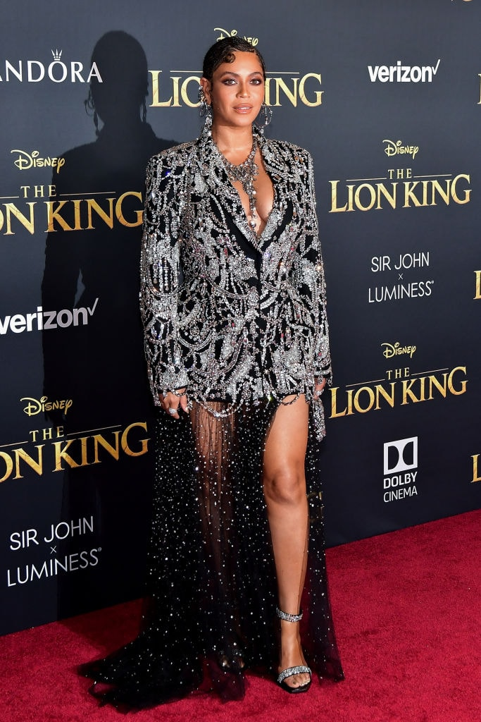 Beyonce at the Lion King premiere