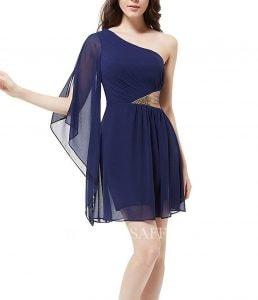 Sheath Asymmetrical Chiffon Short Pencil Dress With Beading